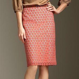 NWT Talbots Daisy Lace Skirt